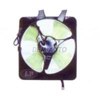 Cr-v  Мотор+вентилятор конденсатора кондиционера с корпусом