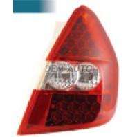 Фонарь задний внешний левый+правый (комплект), тюнинг, с диодами, прозрачный (EAGLE EYES), внутри бело-красный