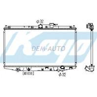 Accord  Радиатор охлаждения механика 2.2 (1 ряд) алюминиевый