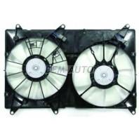 Rx300 {ty harier/highlander 00-}  Мотор+вентилятор радиатора охлаждения двухвентиляторный с корпусом