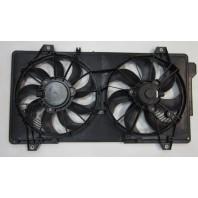 3  Мотор+вентилятор радиатора охлаждения двухвентиляторный с корпусом (Китай)