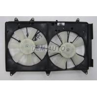Cx7  Мотор+вентилятор радиатора охлаждения двухвентиляторный в сборе (Китай)