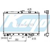 Galant  Радиатор охлаждения автомат 1.8 2 (KOYO) (2 ряд)