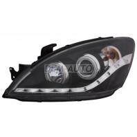 Lancer  Фара левая+правая (комплект) тюнинг линзованная (DEVIL EYES) с светящимся ободком (SONAR) внутри черная