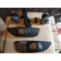 Lancer  Фара противотуманная левая+правая (комплект) с проводкой, с кнопкой, с решеткой бампера