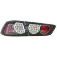 Lancer  Фонарь задний внешний+внутренний левый+правый (комплект), тюнинг с диодами внутри черный (седан) стекло прозрачное