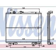Pajero Радиатор охлаждения механика 2.8 (турбодизель) (NISSENS) (см.каталог)