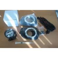 Pajero sport  Фара противотуманная левая+правая (комплект) с проводкой, кнопкой, решеткой бампера хромированной