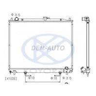 Pajero {07- (525x695mm)}  Радиатор охлаждения автомат (дизель) TD (KOYO) {07- (525x695mm)}