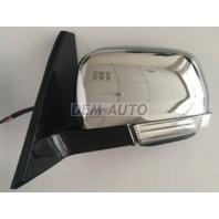 Pajero  Зеркало левое электрическое с подогревом автоскладыванием указателем поворота подсветкой (convex) (Тайвань) хромированное
