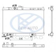 Almera classic  Радиатор охлаждения автомат (KOYO)