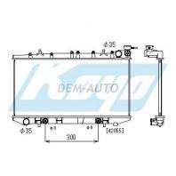 Almera  Радиатор охлаждения автомат 1.4 1.6 1.8 (KOYO)