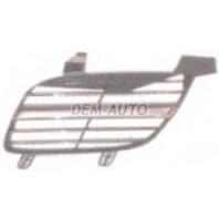 Almera  Решетка радиатора левая хромированная-черная
