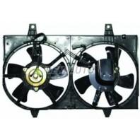 Мотор+вентилятор радиатора охлаждения двухвентиляторный с корпусом