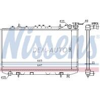 P10  Радиатор охлаждения механика автомат 1.6 2 16 клапанов(2 ряд)