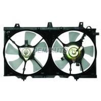 P10  Мотор+вентилятор радиатора охлаждения двухвентиляторный с корпусом механика