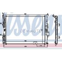 Qashqai  Радиатор охлаждения 1.6 (NISSENS) (AVA) (см.каталог)