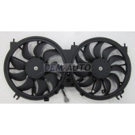 Teana {2.5  3.5 + murano 09-} Мотор+вентилятор радиатора охлаждения двухвентиляторный (Китай)