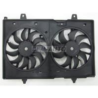 X-trail  Мотор+вентилятор радиатора охлаждения двухвентиляторный в сборе (Китай)