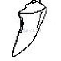 G.vitara {+xl7}  Боковина бампера передняя левая (USA) грунтованная