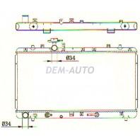 Sx-4  Радиатор охлаждения 1.5 1.6 автомат