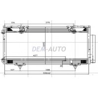 Avensis  Конденсатор кондиционера