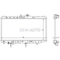 Corolla  Радиатор охлаждения автомат 1.3 1.5 1.6 (1 ряд)