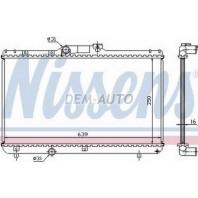 {ДЛИНА 640мм} Радиатор охлаждения механика 1.3 1.5 1.6 1.8 (KOYO) (1 ряд)