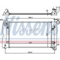 Corolla {avensis 03- 1.8 at}  Радиатор охлаждения автомат 1.4 1.6 (NISSENS) (AVA)