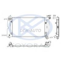 Corolla {avensis 03- 1.8 mt}  Радиатор охлаждения механика 1.4 1.6 (KOYO)