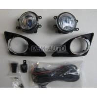 Corolla  Фара противотуманная левая+правая (комплект) тюнинг с решетками бампера с хромированным ободком, проводкой , кнопкой