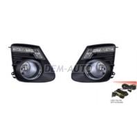 Corolla  Фара противотуманная левая+правая (комплект) тюнинг с диодами , проводкой , кнопкой , решетками бампера хромированными