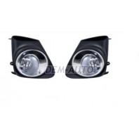 Corolla  Фара противотуманная левая+правая (комплект) с решетками бампера хромированными , (СЕДАН)