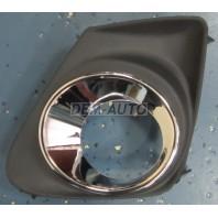 Corolla  Решетка бампера передняя левая с отверстием под противотуманку хромированная (Китай)