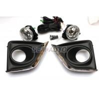 Corolla  Фара противотуманная левая+правая (комплект) с проводкой , кнопкой , решетками бампера хромированными стекло