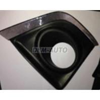 Corolla  Решетка бампера передняя правая с отверстием под противотуманку , хромированный молдинг (Китай)