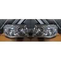 Landcruiser  Фара левая+правая (комплект) тюнинг прозрачная с литым указателем поворота без корректора