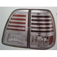 Landcruiser  Фонарь задний внешний+внутренний левый+правый (комплект) тюнинг с диодами прозрачный (SONAR) внутри хром