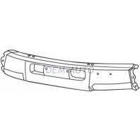Landcruiser {vx}  Бампер передний центральный без отверстия под лебедку под молдинг черный {VX}