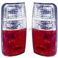 Landcruiser  Фонарь задний внешний левый+правый (комплект) тюнинг прозрачный (DEPO) бело-красный
