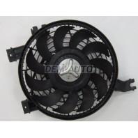 Prado  Мотор+вентилятор конденсатора кондиционера в сборе (Китай)