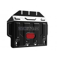Prado {4 Защита поддона двигателя,с креплениями,2 часть,стальная {4,0/3,0/GX 460 4.6}