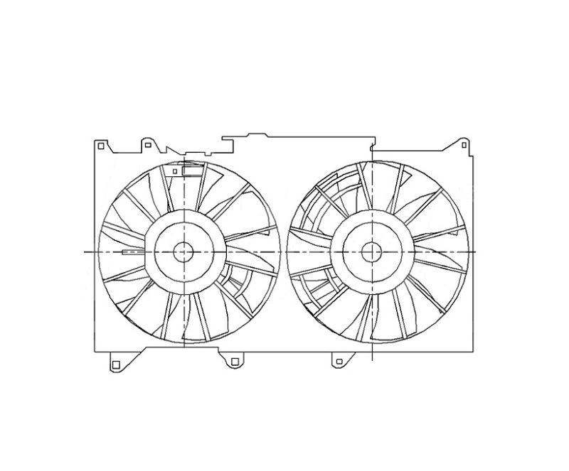 Диффузор радиатора +вент.+мотор.
