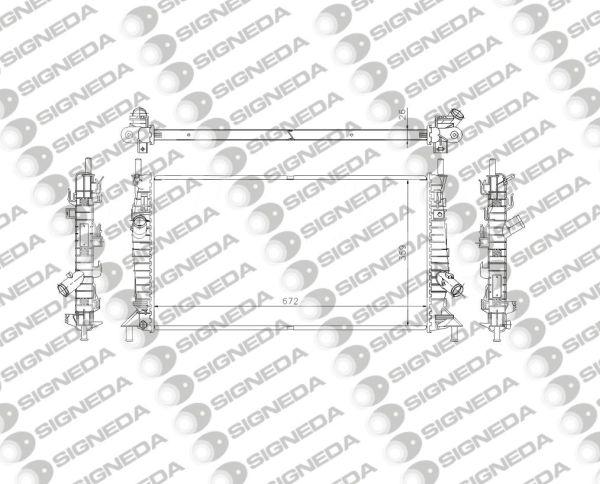 Радиатор охлаждения 1,4/1,6/1,6TDCI/1,8/1,8TDCI/2,0D/2,0TDCI MT/AT