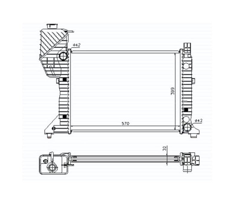 Радиатор охлаждения 208D/214/308D/314/408D/414 MT
