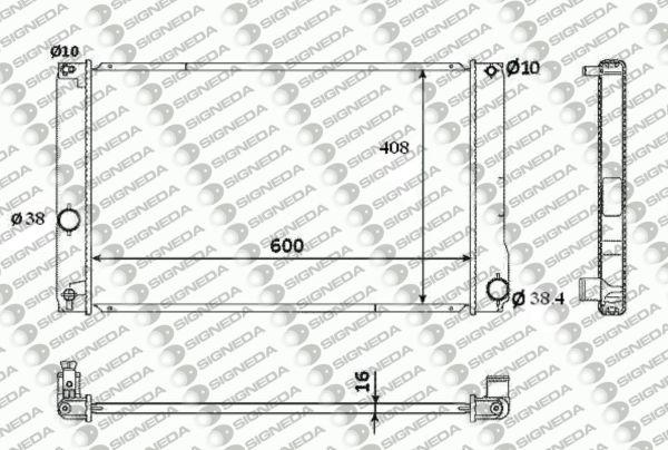 Радиатор охлаждения 1,8H/200H AT
