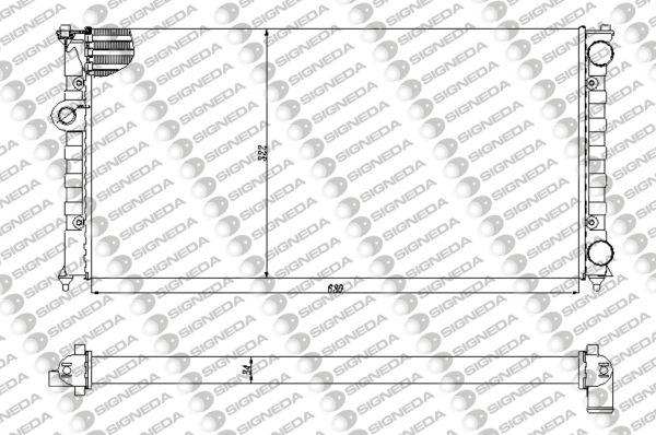 Радиатор охлаждения 1,6/1,8/1,9TDI/1,9SDI/2,0 MT/AT